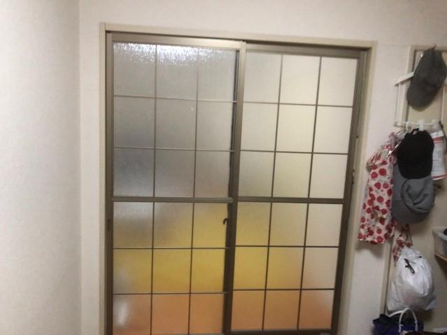 引き違い戸 ガラス交換作業後
