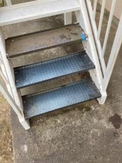 階段のステップ交換の写真