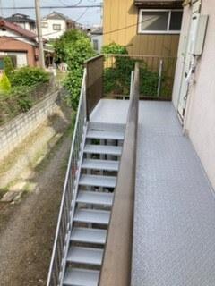 階段ステップ交換の写真